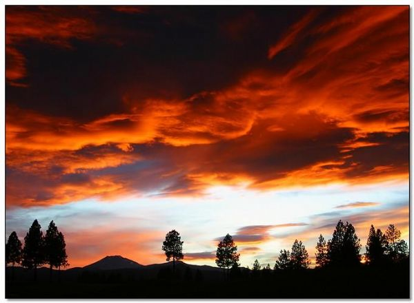 sunset in Bend
