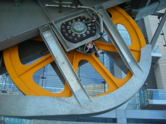 Fly-wheel on the New Ariel Tram